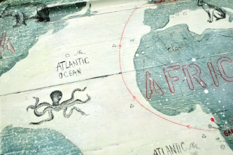 Atlantic Ocean with a scary octopus...